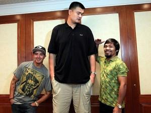 Brandon Rios, Yao Ming, Manny Pacquiao (Photo:Chris Farina/Top Rank)