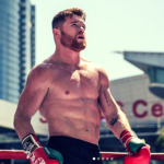 Photo of muscular Canelo Alvarez ripped and ready to go for Golovkin fight