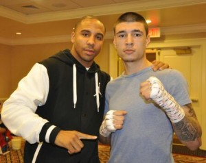 Dusty Harrison (Right) with Andre Ward (Left)