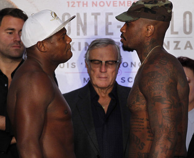 Luis 'King Kong' Ortiz and Malik Scott stare down