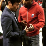 Photo: Mayweather and Pacquiao meet face to face for first time