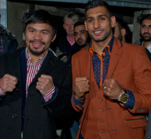 Manny Pacquiao with Amir Khan