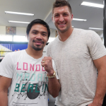 Photo: Tim Tebow and Manny Pacquiao Meet at Wild Card