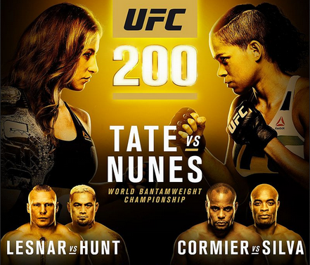UFC 200 Lives Up To The Hype; Lesnar And Nunes Win Big