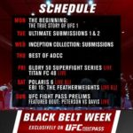 UFC FIGHT PASS: BLACK BELT WEEK A 7-DAY CELEBRATION OF SUBMISSIONS AND GRAPPLING